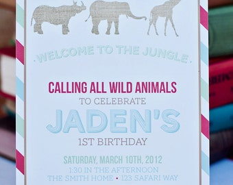DIY Printable Invitation - Zoo/Safari Party