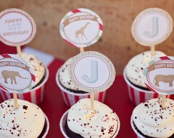 DIY Printable Party Circles - Zoo/Safari Party