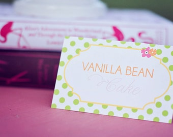 DIY Printable Food Labels/Tents - Garden Tea Party