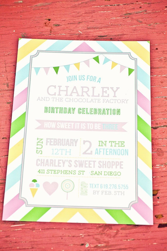 Printable Sweet Shoppe Party Invitation