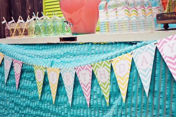 DIY Printable Birthday Banner - Sweet Shoppe Party