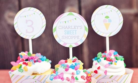 DIY Printable Party Circles - Sweet Shoppe Party
