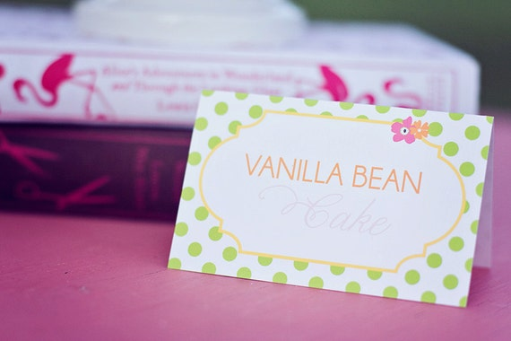 DIY Printable Food Labels/Tents - Garden Tea Party