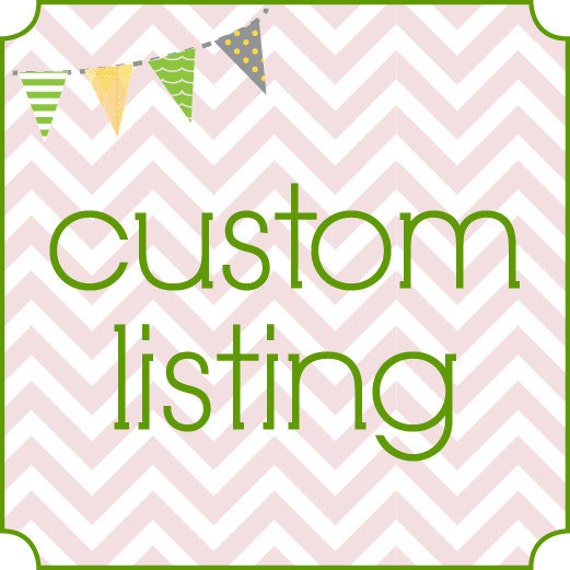 Custom Listing for EttyBabe