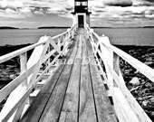 Nautical Photograph Lighthouse Marshall Point Print Black and White