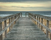 Beach Hampton Boardwalk Photograph Photo Print 8x10