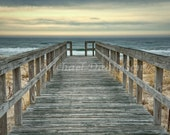 Hampton Pier Boardwalk Seaside Photograph 12x18