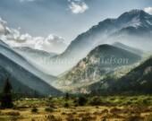 Mountain Mist Light Rocky Mountain Colorado Landscape 12x18