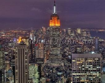 NYC Photograph Empire at Dusk 8x10 Print