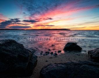 Sunset Beach Photograph 8x10