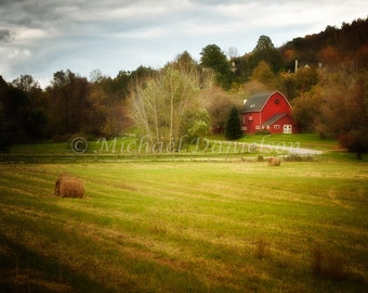 Barn Photograph Autumn in Kent 8x10