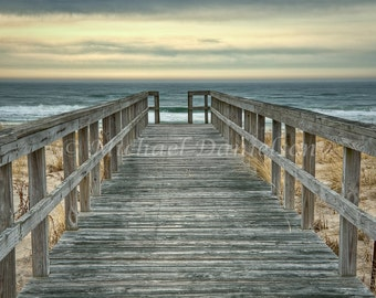 Hampton Pier Boardwalk Seaside Photograph 12x18
