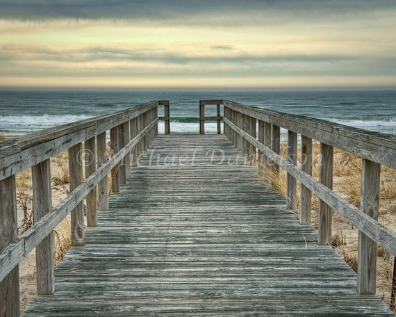 Beach Hampton Boardwalk Photograph Photo Print 8x10