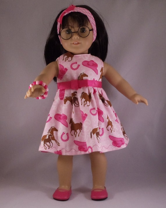 American Girl Doll Cowgirl Up in Pink Dress Fits Other18 Inch Dolls