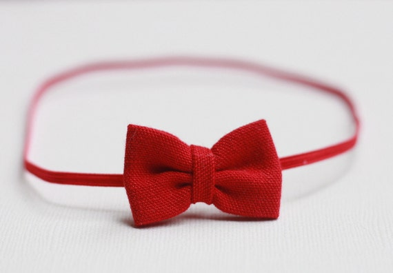 Baby Headband - Newborn Photography Prop -The Mae in Red