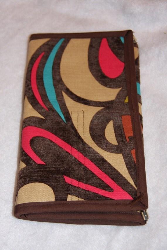 Multi Abstract Scissor Shear Makeup Paint Brush Case