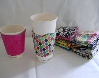 Eco-Friendly Coffee/Tea Sleeve --- Gems
