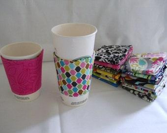 FREE SHIPPING --- Eco-Friendly Coffee/Tea Sleeve --- Gems