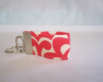 FREE SHIPPING ---- Extra MINI Key Fob ---- Amy Butler Wallflower ---- Cherry