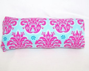 Reversible Car Seat ARM PAD Handle Cover -- Pink and Blue Damask
