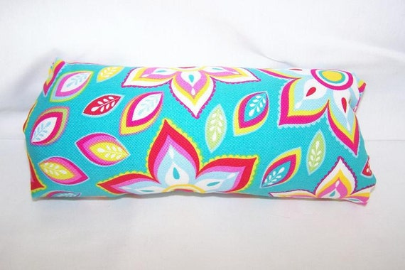 Reversible Car Seat ARM PAD Handle Cover -- Medallion Turquoise Pink Lime Aqua