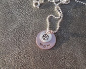 Soccer Mom or Coach Personalized Hand Stamped Necklace with Soccer Charm - Gifts for Her - Coach Gift
