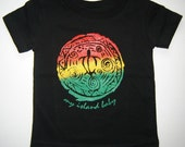 SALE! Rasta Honu Black Infant Tee, Sizes 6 & 12 months
