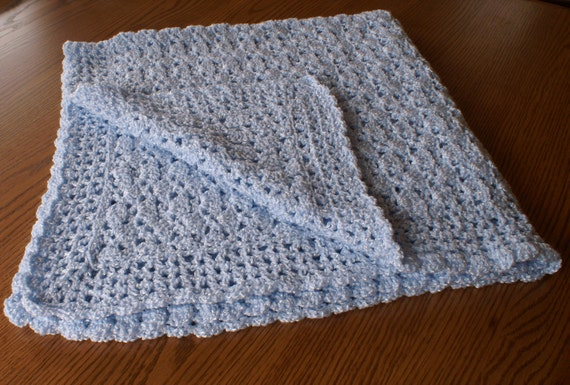 Crochet Baby Blanket with Shell Stitch