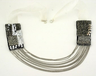 Sparklers In The Night Sequined and Chained Necklace