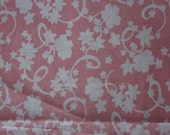 Reserved for  BlushingRose - Vintage pink and white floral feedsack (first)