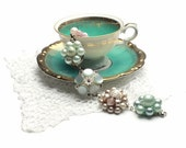 Bracelet made from retro vintage cluster earrings PASTEL PRINCESS