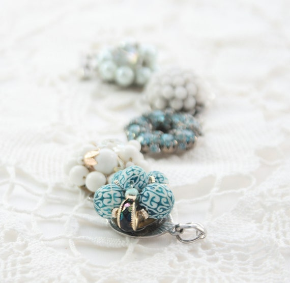Bracelet made from vintage earrings. One of a kind and beautiful. Forever