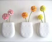 Custom Reserve Listing for Kylie Porcelain Flower Lace Wall Pocket