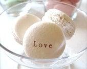 Made in New York-White Love...Sweet Interior Ceramic Macaron Sachet Fragrance Object, Essential Oil Diffuser, Air Freshener