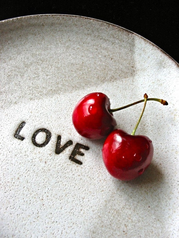 Love plate for Valentine's Day-one of a kind