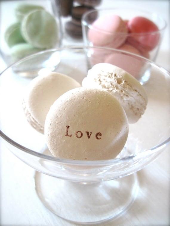 Made in New York-White Love...Sweet Interior Ceramic Macaron Sachet Fragrance Object, Essential Oil Diffuser, Good for Valentine's Day Gift!