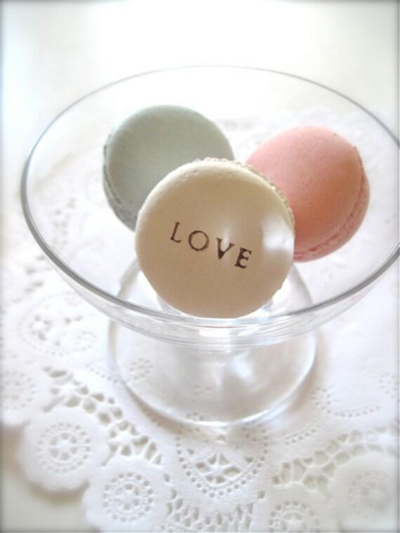 Pink, Blue, White Love Ceramic Macaron Sachet-Fragrance Object