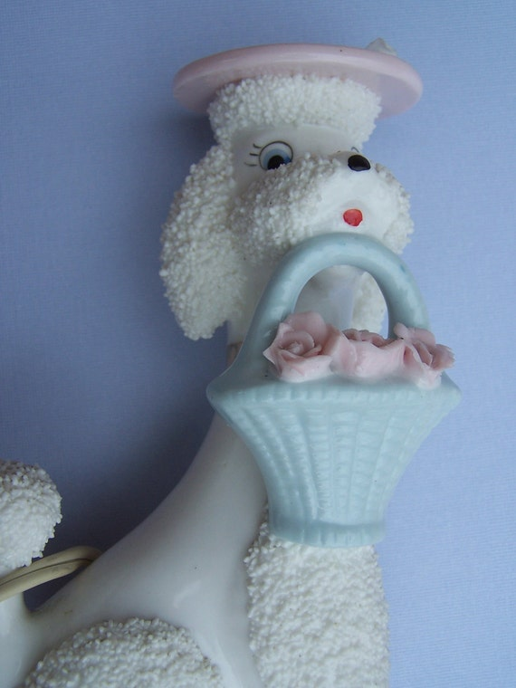 Vintage Ceramic French Poodle Night Light By