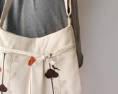 Birds and Branches Echino Adjustable Shoulder Bag- OOAK