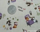 New little red hood fairy tale half yard purple cotton linen