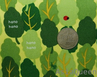 "Ladybug in the forest - 1 yard - canvas - clearance fabric - Check out with code ""5YEAR"" to save 20% off"