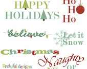 Christmas Word Art - Personal or Commercial Use - Christmas Morning
