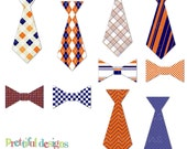 Tie Clip Art Bow Tie Clip Art Commercial Use Instant Download