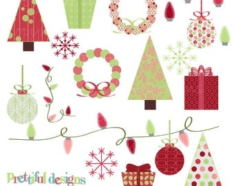 Christmas Clip Art - Personal or Commercial Use - Funky Christmas