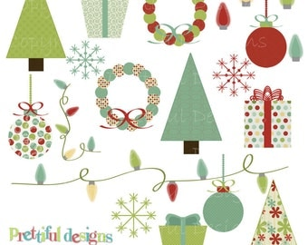 Christmas Clip Art - Personal or Commercial Use - Christmas Morning