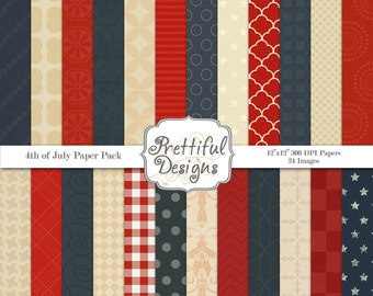 Independence Day Digital Paper pack - 4th of July