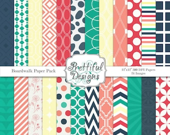 Digital Paper Pack  - Personal and Commercial Use - Boardwalk