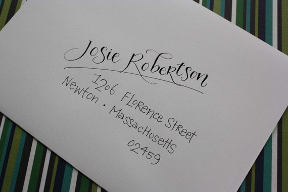 Items Similar To Calligraphy Hand Addressed Envelopes On