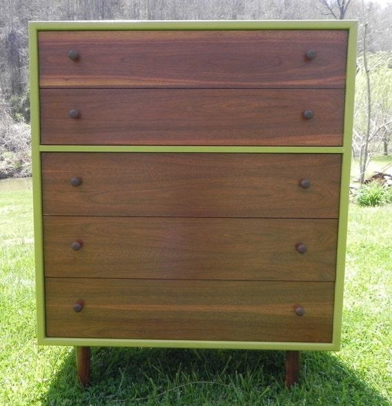 "Mid-Century Modern Dresser - ""Olive"" (FREE SHIPPING)"