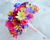 Paper Flowers Wedding Bouquet -Wonderland Wildflower Bouquet by Enchanted Bouquets. CUSTOM ORDERS WELCOME.
